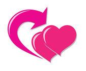 Love return icon — Stock Vector