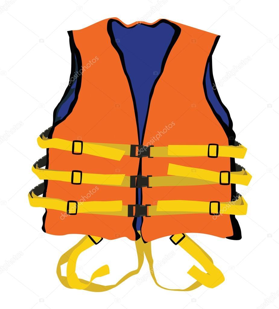 Orange Life Jacket Stock Vector 169 Chartcameraman 33347541