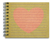 Old notepad pink heart — Fotografia Stock