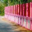 Pink painted on fence — 图库照片