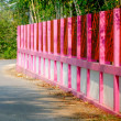 Pink painted on fence — Stok fotoğraf