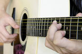 Handle chords guitar — Stock Photo