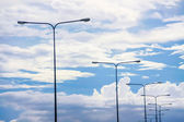 Poste de luz en el cielo — Foto de Stock