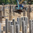 Foundation concrete pile — Foto de Stock