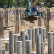 Foundation concrete pile — Stock Photo