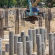 Foundation concrete pile — Stock Photo