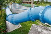 Pipes of an irrigation water — Stock Photo
