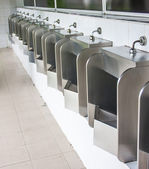 Stainless urinals — 图库照片