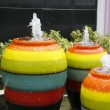 Colorful Jar fountain — Stock Photo