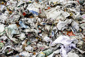 Paper waste for recycle — Stockfoto