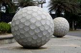 Statue Golf ball — Stock Photo