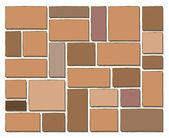 Wall block, tiled floor — Stock Vector