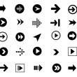 Arrow sign icon set — Stock Vector