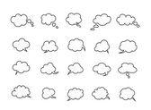 Clouds speak bubbles — Stock Vector