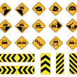 Постер, плакат: Road signs warning