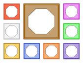 Modern frame-octagon01 — Stockvector