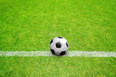 Ball on line in field — Stock Photo