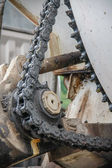 Old chain with propel roller — Stock Photo