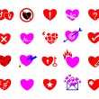 Colorful heart concept icon set — Stock Vector