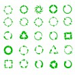 Green circle arrows — Stockvektor