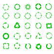 Green circle arrows — Stock Vector