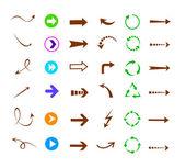 Colorful arrows icon set — Stock Vector