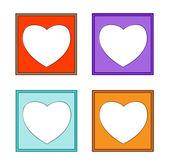 Moderni colorati-cornice cuore-01 — Vettoriale Stock
