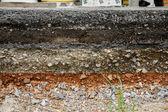 Asphalt layer road — Stock Photo