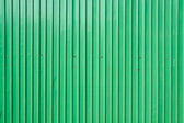 Green zinc wall — Stock Photo