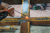 Welding steel — Foto de Stock