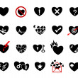 Love concept icon set — Stock Vector #40503821