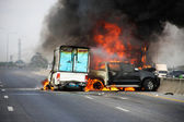 Accidente de coche explosivo — Foto de Stock