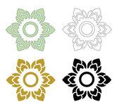 Thai pattern flower — Stock Vector