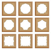 Style of wood carved frame — Stock Vector