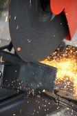 Cutting steel — Stock Photo