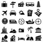 Travel icon set — Stock vektor