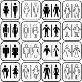 Toilet icons set — Stock Vector