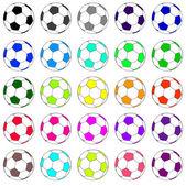 Renkli futbol 02 ayarla — Stok Vektör