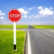 Stop traffic sign pole — Stock Photo #50525725