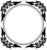 Circle frame of Thai pattern — Stock Vector