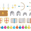 Stock Vector: Set of Icons - Fantasy