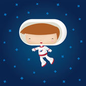 Happy Astronaut — Stock Vector