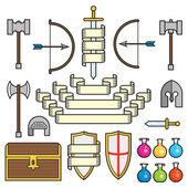 Fantasy Symbols and Scrolls — Stock Vector