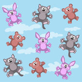 Animation small animals — Stock Vector