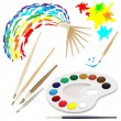 watercolor brushes — Stock Vector