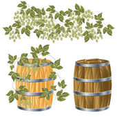 Wooden barrel of — Stock Vector