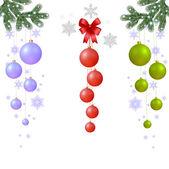 Kerstmis samenstelling — Stockvector