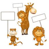 Funny animals — Stock Vector