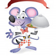 Mouse waiter - Stock Photo