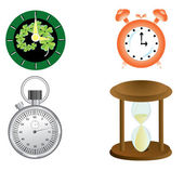 Kind of vector clock — Stock Vector